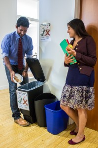 Employees appreciate the opportunity to recycle their food waste at the office.